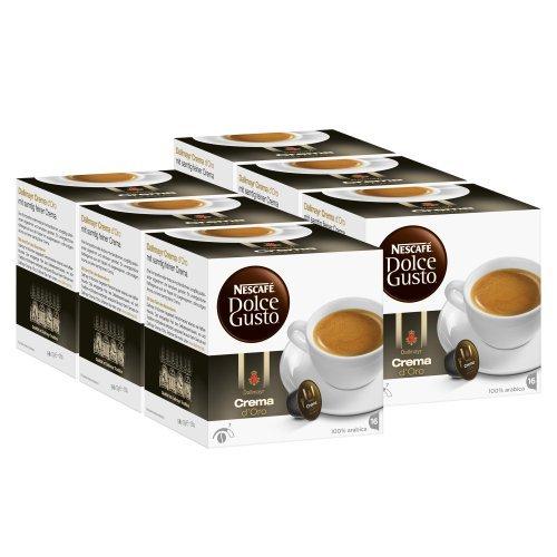 Nescafé Dolce Gusto Dallmayr Crema d´Oro, Pack of 6, 6 x 16 Capsules by Nescafé
