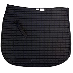 Intrepid International Dressage Saddle Pad, Oversize Black, Quilted