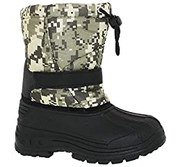 Transco Youth Boys B253yb Water Resistant One Strap Boot With Toggle Pull,Camo Green,12