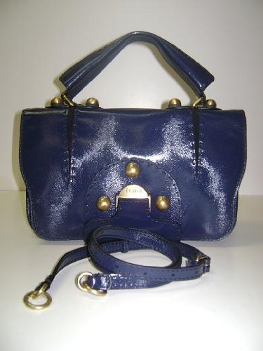 Fendi Handbags Secrete Code Dark Blue Calf Leather 8BN199