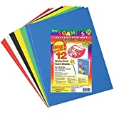 Darice Sticky Back Foam Sheets, 9 by 12-Inch, 12/Pack (Color: Basic Colors)