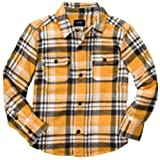 Carter's Baby Boys Button-Front Plaid Flannel Shirt (Yellow, 18 Months)