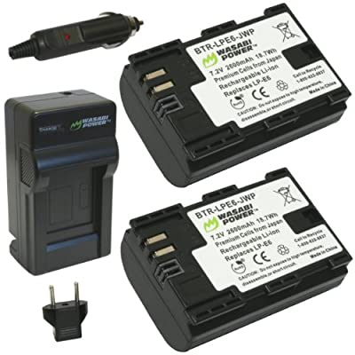 Wasabi Power Battery and Charger for Canon LP-E6, LP-E6N