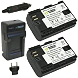 Wasabi Power Battery (2-Pack) and Charger for Canon LP-E6 and Canon EOS 5D Mark II, EOS 5D Mark III, EOS 6D, EOS 7D, EOS 60D, EOS 60Da, EOS 70D