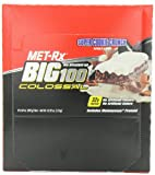 MET-Rx Big 100 Colossal Meal Replacement Bar, Super Cookie Crunch, 12 Bars, 3.52 Ounces