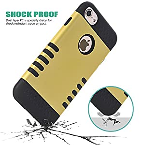 iPhone 7 Case, GreenElec High Impact Shockproof Hybrid Heavy Duty Dual Layer Hard Plastic+Soft Silicon Rubber Armor Defender Case Cover for iPhone 7 from GreenElec