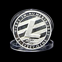 Alcoa Prime New 1 OZ Silver Plated LTC Litecoin Vires In Numeris Medallion Coin