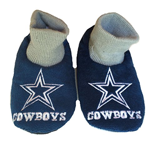 NFL Dallas Cowboys Kids Slippers, Shoe Size 11-12