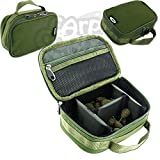 New NGT Carp Fishing Tackle Lead Accessory Bag With 3 Way Velcro Rigid Dividers