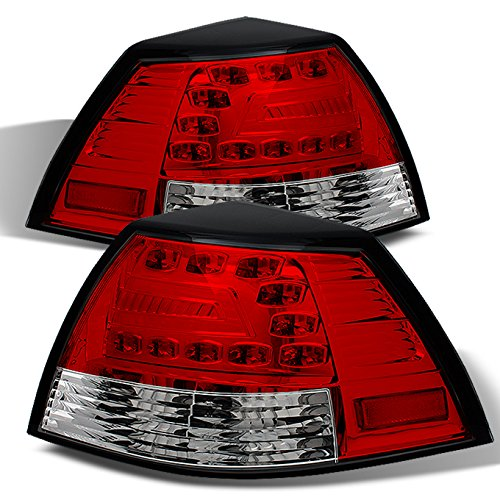 08-09 Pontiac G8 GT GXP Sport Sedan Rear Red Clear LED Tail Lights Brake Lamps Replacement Pair (Pontiac G8 Lights compare prices)