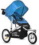 Joovy Zoom 360 Swivel Wheel Jogging Stroller, Blue (Discontinued by Manufacturer)