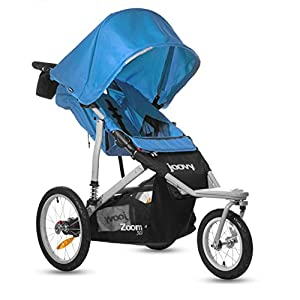 Joovy Zoom 360 Swivel Wheel Jogging Stroller Blue