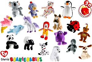 Ty Beanie Baby Exclusive 2009 McDonalds 30th Anniversary Happy Meal Set of 30
