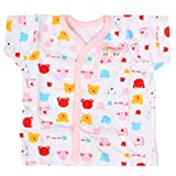 Baby Bucket Half Sleeve Front Open Printed Jabla New Born (Pink)