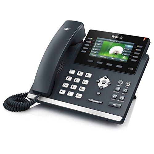 """YEALINK Téléphone SIP T46G 16 comptes Giga PoE couleur 4"""""""