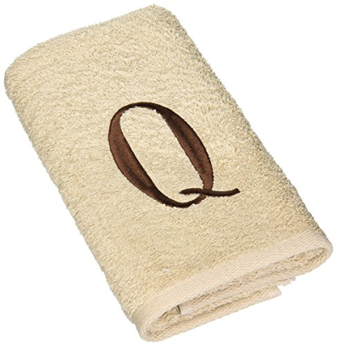 Avanti Premier Linen Block Monogram Fingertip Towel, Initial L, Brown (Avanti Premier Fingertip Towels compare prices)