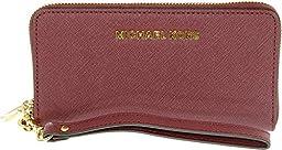 MICHAEL Michael Kors Women\'s Multifunction Phone Case Wallet, Merlot, One Size