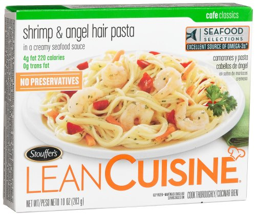 Stouffer's Lean Cuisine Entr�e Shrimp Angel Hair Pasta, 10-Ounce, 12-Count Boxes