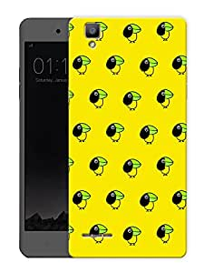 """Cute Small Bird - YellowPrinted Designer Mobile Back Cover For """"Oppo F1"""" (3D, Matte, Premium Quality Snap On Case)"""