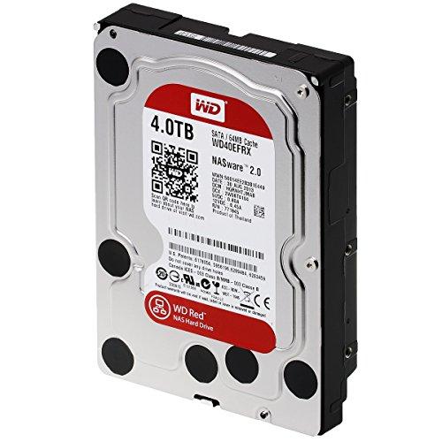 Western Digital WD40EFRX interne Festplatte 4TB (8,9 cm (3,5 Zoll), 5400rpm, 64MB Cache, SATA)
