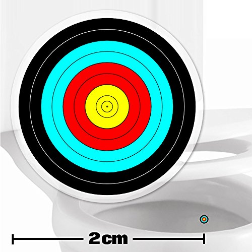 10-x-archery-target-toilet-stickers-2cm-wide-cleaner-bathroom-restroom-floor-in-a-flash-with-no-clea
