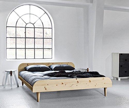 viverezen–Bett Twist mit Kopfteil natur Außenmaße 186x 206Maß INT. 180x 200