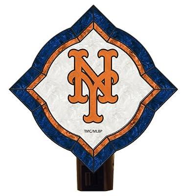 MLB New York Mets Vintage Art Glass Nightlight