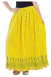 Magnus Women's Long Skirt (SKT498, Blue, M)
