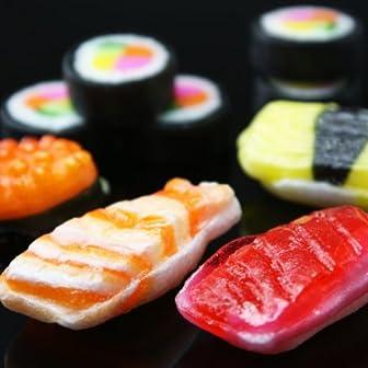 【父の日 ギフト対応商品】まるでお寿司 がんこ 寿司飴 5種 (マグロ・エビ・イクラ・玉子・巻物) 1袋 12個入り