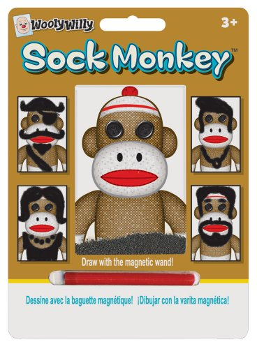 Smethport Sock Monkey Wooly Willy Toy - 1