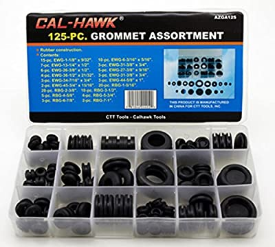 Rubber Grommet Assortment Set Electrical Gasket 125 pc