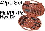 Screwdriver & Bit Set - 42pc - (Flat, Hex, Philips, Pozidriv & Star) Good Quality Products