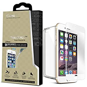 iCarez for Apple iPhone 6 [Full Fit Tempered Glass] [For White Color iPhone 6 ] Highest Quality Premium Anti-Scratch Bubble-free Reduce Fingerprint No Rainbow Screen Protector Easy Install Product with Lifetime Replacement
