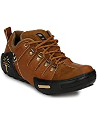Mactree Men's Tan Artificial Leather Casual Shoes