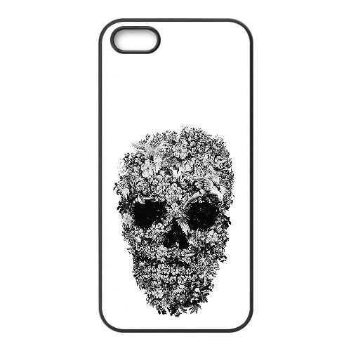 iphone5-5s-universal-mobile-phone-shell-skull-with-flowers-pattern-black-and-white-by-alexander-mcqu