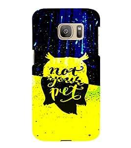 PrintVisa Attitude Quotes Design 3D Hard Polycarbonate Designer Back Case Cover for Samsung Galaxy S7