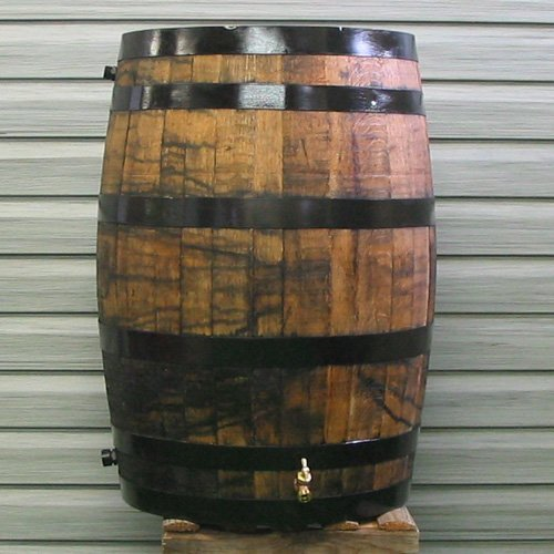 Upcycle 54 gal. Oak Wooden Rain Barrel Color - Refinished
