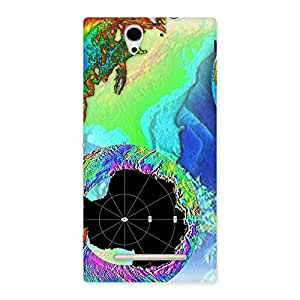 Cute World of Colors Back Case Cover for Sony Xperia C3