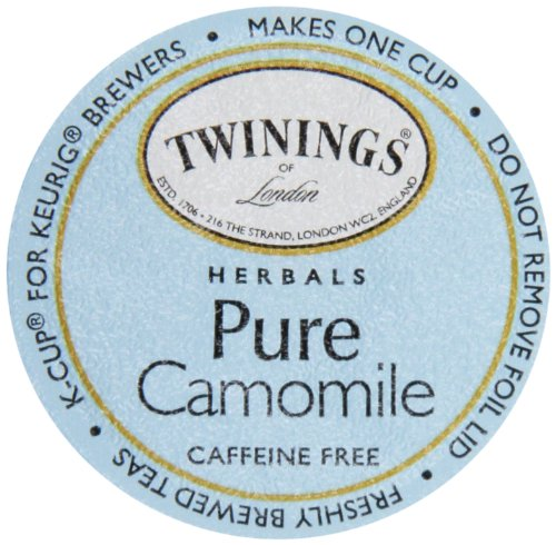 Twinings Of London K-Cup Portion Pack For Keurig K-Cup Brewers Pure Camomile Tea, 72 Count (Pack Of 6)