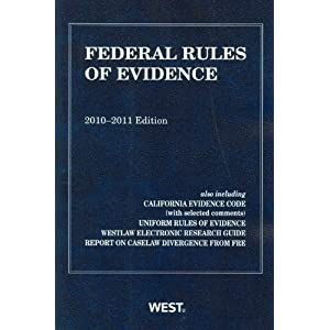 Amazon.com: Federal Rules of Evidence, With Evidence Map, 2010 ...