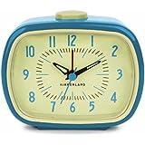 Kikkerland Retro Alarm Clock, Blue