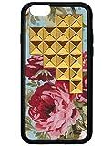 wildflower ( ワイルドフラワー ) ロサンゼルス の エレガント ゴールド スタッズ iphone6ケース Blue Floral Gold Pyramid iPhone 6 Case ファブリック 布 ブルー フローラル アイフォン ケース スタッド ピラミッド モバイル カバー apple6 海外 ブランド