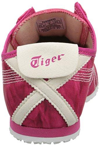 Onitsuka Tiger Women's Mexico 66 Slip-On Classic Running Shoe, Fest Fuchsia/White, 10 M US
