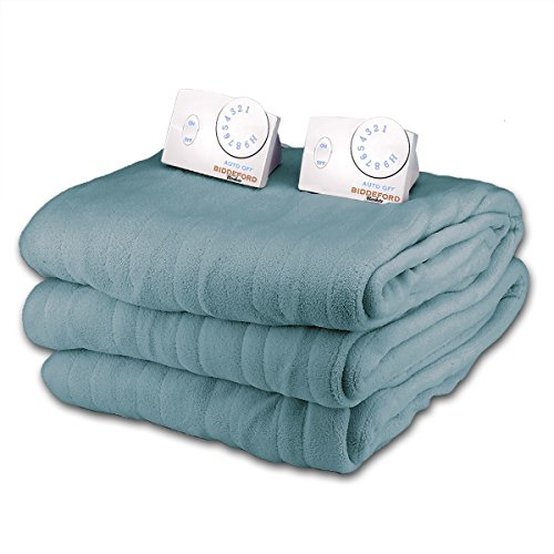 Lowest Price! Soft Microplush King Size Electric Heated Blanket by Biddeford (Sapphire)