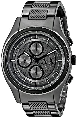Armani-Exchange-Mens-AX1606-Analog-Display-Analog-Quartz-Grey-Watch