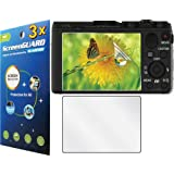 3x Sony Cyber-Shot DSC-HX50V DSC-HX50V/B Digital Camera Premium Clear LCD Screen Protector Guard Shield Kit NO CUTTING (GUARMOR Brand)
