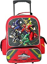 Disney Power Rangers Rolling Backpack - Full Size Power Rangers Wheeled Backpack -Top Rescue