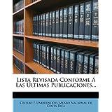 Lista Revisada Conforme a Las Ultimas Publicaciones...