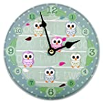 "Picture Wall clock ""Sweet Owls"" Walk..."