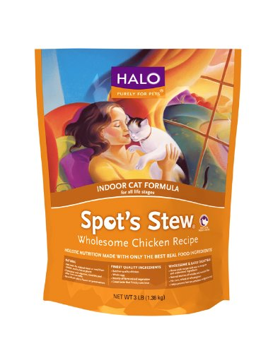 See Halo Spot's Stew Indoor Cat Wholesome Chicken Recipe, 11-1/2-Pound